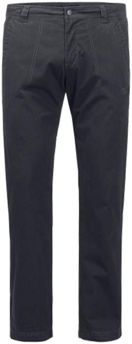 Брюки утепленные мужские Jack Wolfskin Arctic Road Pants M, цвет: темно-серый. 1504481-6350. Размер 56 (56)1504481-6350Прочные ветро- и водонепроницаемые брюки с теплой подкладкой Jack Wolfskin Arctic Road Pants подойдут для путешествий и для повседневной носки. Модель прямого кроя стандартной посадки на талии имеет застежку-молнию в ширинке и пуговицу на поясе. Имеются шлевки для ремня. Изделие дополнено двумя втачными карманами спереди и двумя накладными карманами сзади. Чтобы оценить по достоинству брюки Arctic Road Pants, совсем не обязательно ехать в Арктику. Они отлично согреют вас и на прогулке по зимнему парку. Брюки сшиты из прочной проверенной временем ткани Function 65 - практичного гибридного материала из смеси органического хлопка и прочных синтетических волокон. Ткань эффективно защищает от ветра, а кратковременные ливни ей совсем не помеха. А мягкая теплая подкладка из микрофибры не позволит вам замерзнуть. Два кармана на бедрах и два задних кармана смогут вместить деньги, ключи и другие важные вещи, которые лучше держать под рукой.
