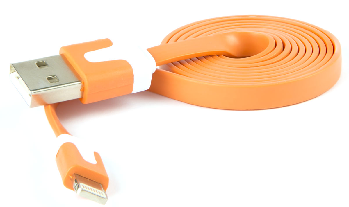 Red Line, Orange кабель Lightning-USB (1 м) rombica digital ig 02 usb apple lightning mfi white кабель 0 35 м