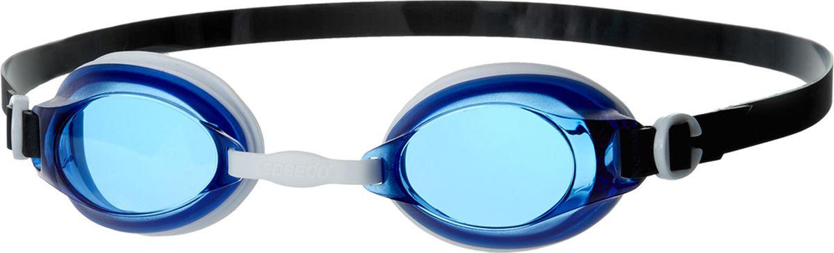 Очки для плавания Speedo Jet, цвет: голубой, прозрачный8-092978577