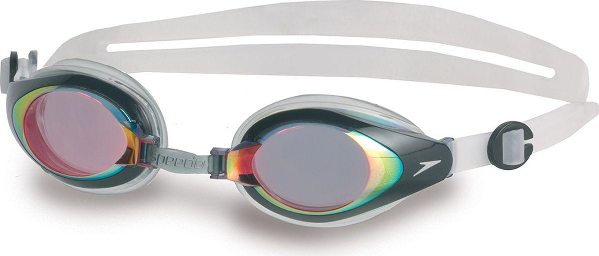 """Очки для плавания Speedo """"Mariner Mirror"""", цвет: красный, прозрачный"""