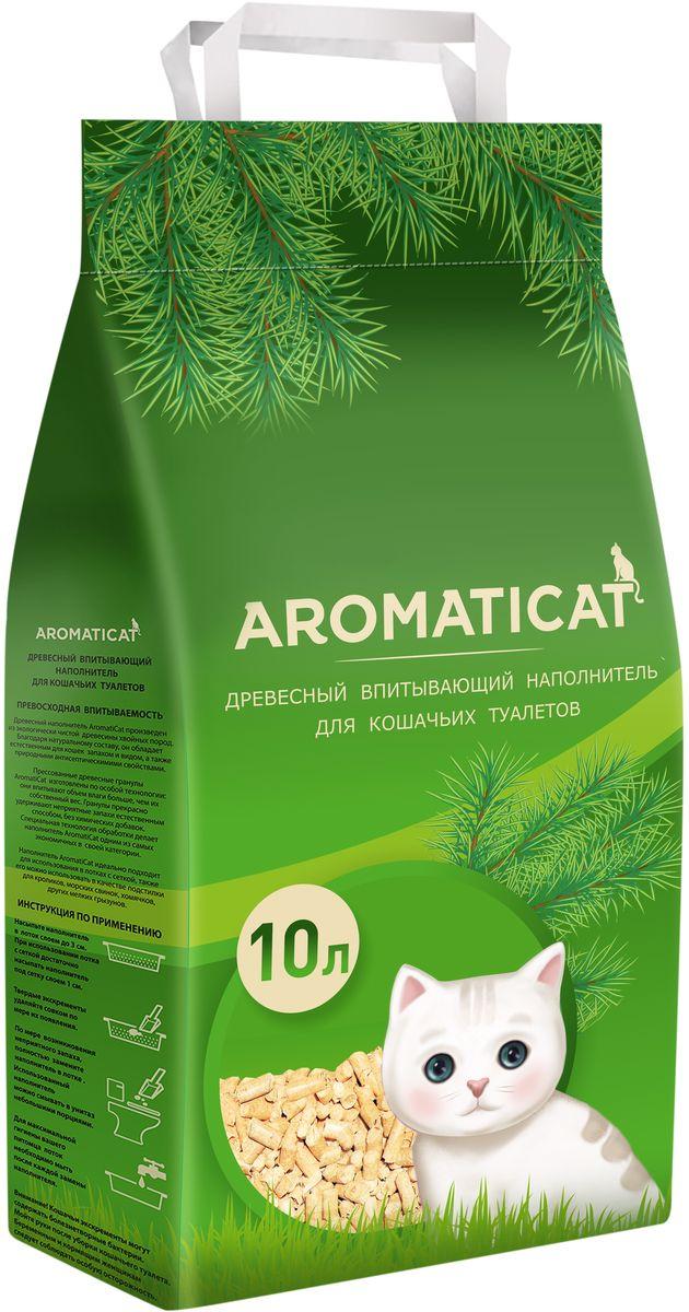 Наполнитель для кошачьего туалета Aromaticat, древесный, 10 лАСД10Наполнитель Aromaticat изготовлен из экологически чистой древесины хвойных пород. Благодаря натуральному составу, он обладает естественным для кошек запахом и видом, а также природными антисептическими свойствами.Пресованные древесные гранулы Aromaticat изготовлены по особой технологии: они впитывают объем влаги больше, чем их собственный вес. Гранулы прекрасно удерживают неприятные запахи естественным способом, без химических добавок. Специальная технология обработки делает наполнитель Aromaticat одним из самых экономичных в своей категории.