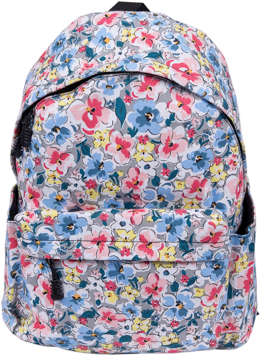 Рюкзак женский Nuages, цвет: белый. NR7105-3NR7105-3Женский рюкзак Nuages изготовлен из плотного текстиля с цветочным рисунком. Рюкзак имеет одно основное отделение и закрывается на застежку-молнию. На лицевой стороне находится один объемный карман на молнии, по бокам два кармана без застежек.Рюкзак оснащен плечевыми лямками регулируемой длины из текстиля и короткой ручкой. Стильный рюкзак эффектно дополнит ваш яркий образ.