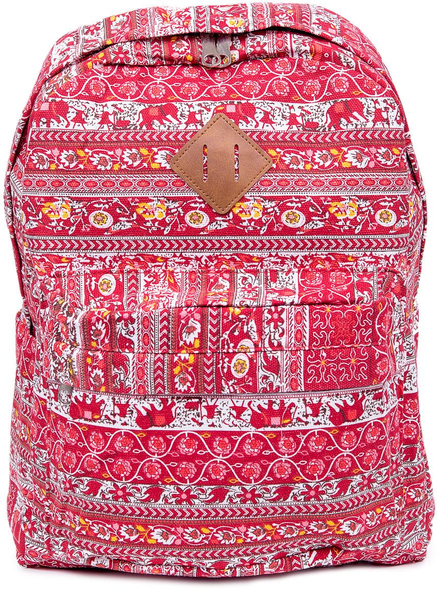 Рюкзак женский Nuages, цвет: красный. NR7106/4NR7106/4Текстильный рюкзак. Основное отделение на молнии, 1 карман на молнии сзади, 2 боковых кармана, карман на молнии на спинке.