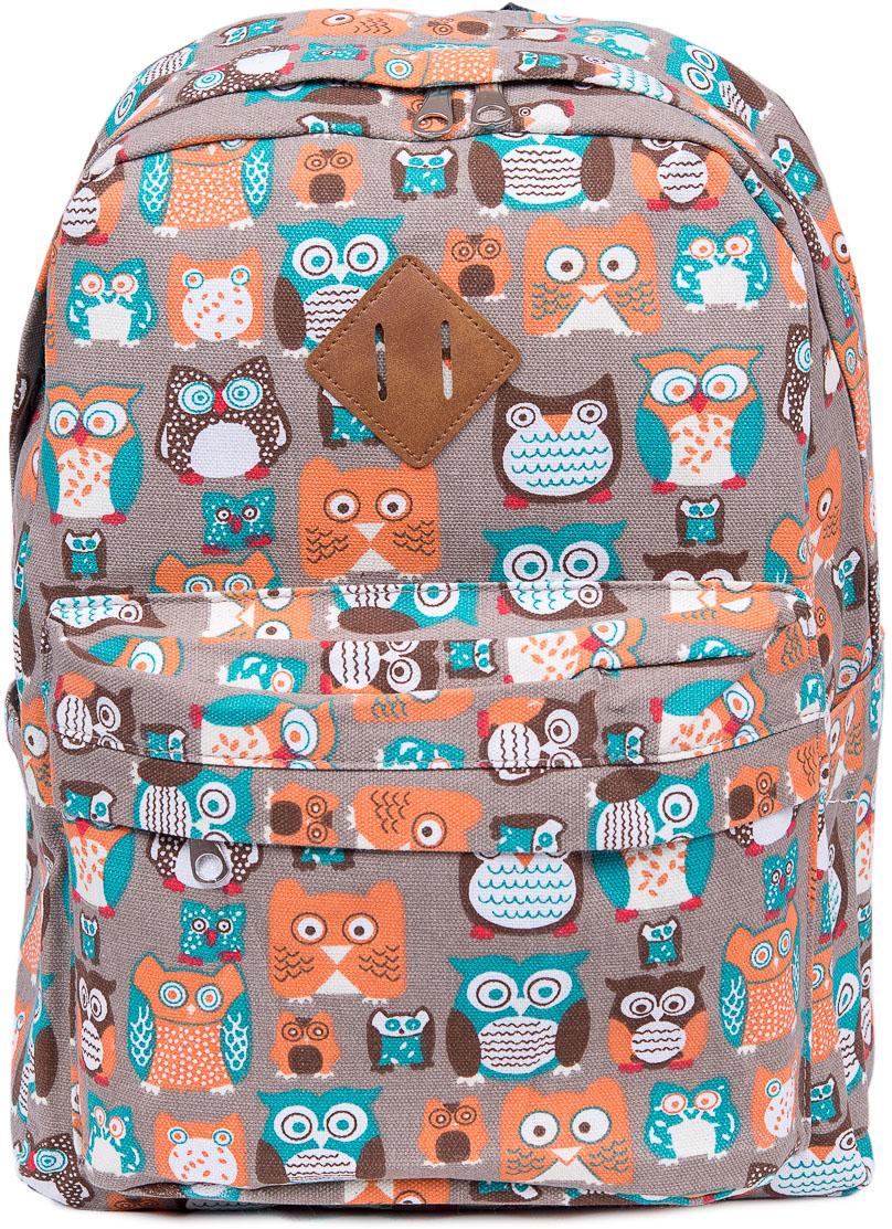 Рюкзак женский Nuages, цвет: серый. NR7108/4 greyNR7108/4 greyЖенский рюкзак Nuages изготовлен из плотного текстиля с забавным рисунком. Рюкзак имеет одно основное отделение и закрывается на застежку-молнию. На лицевой стороне находится один объемный карман на молнии, по бокам два кармана без застежек, сзади один карман на молнии.Рюкзак оснащен плечевыми лямками регулируемой длины из текстиля и короткой ручкой. Стильный рюкзак эффектно дополнит ваш яркий образ.