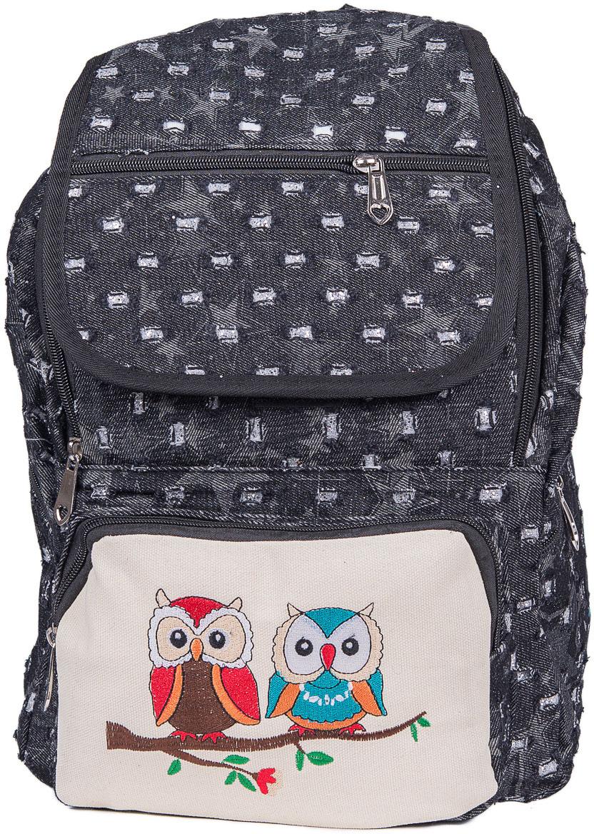 Рюкзак женский Nuages, цвет: черный. NR7118/3blackNR7118/3blackЖенский рюкзак Nuages изготовлен из плотного текстиля с забавным рисунком. Рюкзак имеет одно основное отделение и закрывается на застежку-молнию и клапаном на липучке. На лицевой стороне находится один объемный карман на молнии, один карман на молнии на клапане, по бокам два кармана на молнии и сзади один карман на молнии.Рюкзак оснащен плечевыми лямками регулируемой длины из текстиля и короткой ручкой. Стильный рюкзак эффектно дополнит ваш яркий образ!
