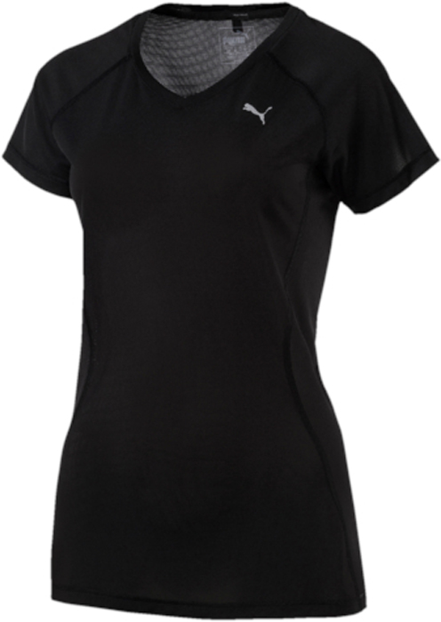 Футболка женская Puma Core-Run S/S Tee W, цвет: черный. 51503301. Размер L (46/48)51503301