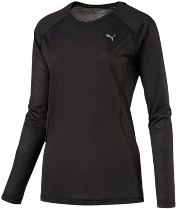 Лонгслив женский Puma Core-Run L S Tee W, цвет: черный. 51503501. Размер XS (40/42)51503501Лонгслив от Puma с длинным рукавом прекрасно подойдет для пробежек на открытом воздухе.