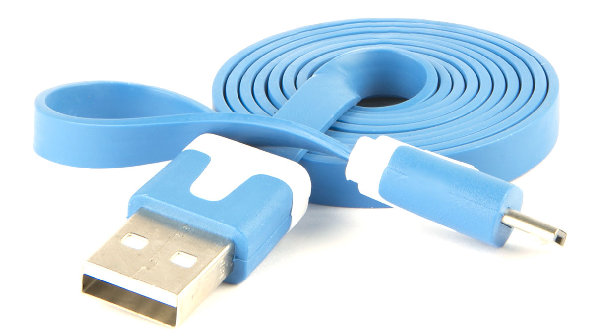Red Line, Blue кабель USB-microUSB (1 м)УТ000010321Кабель Red Line предназначен для передачи данных между персональными компьютерами и смартфонами, планшетами, MP3-плеерами и прочими устройствами с портом microUSB. Кроме того, его можно подключить к адаптеру питания USB, чтобы зарядить устройство от розетки.