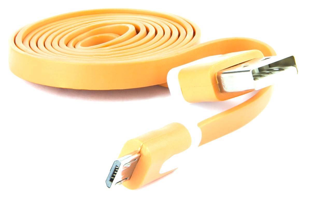 Red Line, Orange кабель USB-microUSB (1 м)УТ000010323Кабель Red Line предназначен для передачи данных между персональными компьютерами и смартфонами, планшетами, MP3-плеерами и прочими устройствами с портом microUSB. Кроме того, его можно подключить к адаптеру питания USB, чтобы зарядить устройство от розетки.