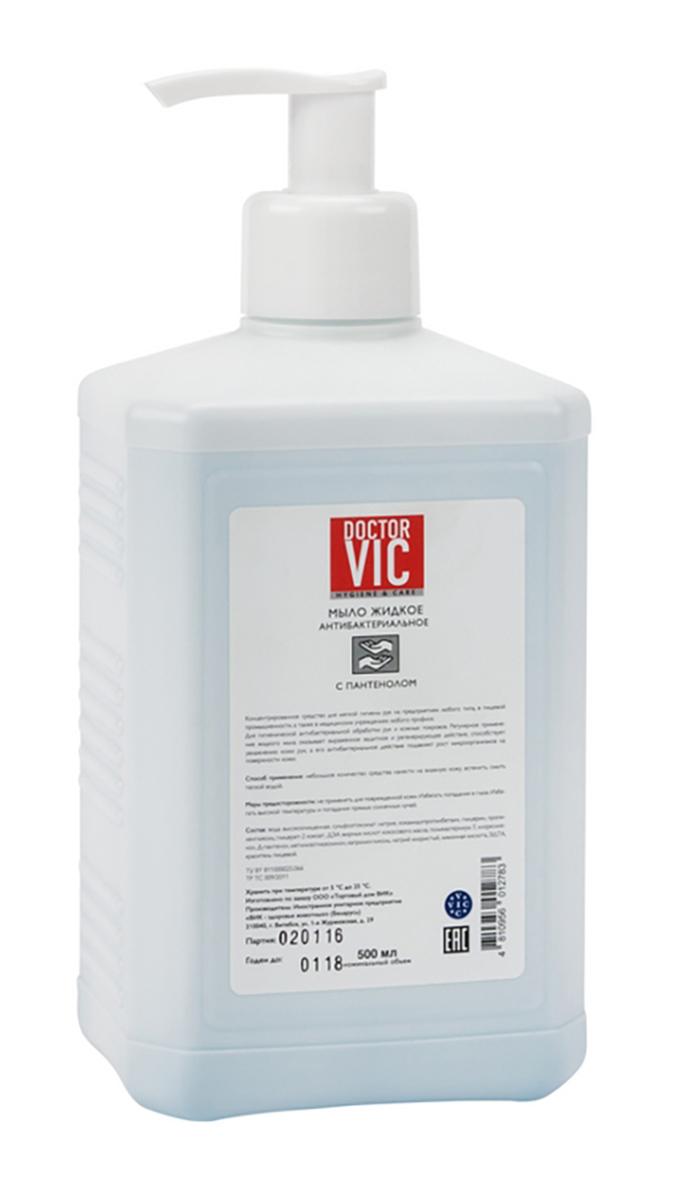 Мыло жидкое Doctor Vic, антибактериальное, с пантенолом, 500 млС4Г4-00461Концентрированное средство для антибактериальной обработки рук и кожных покровов специалистов, работающих с животными