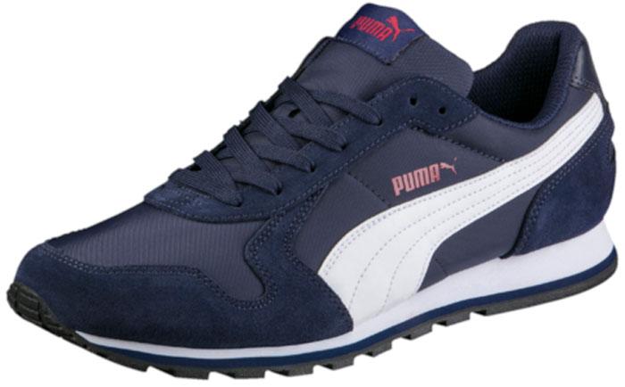Кроссовки Puma ST Runner NL, цвет: темно-синий. 35673842. Размер 6,5 (39)35673842Разработанные в лучших традициях Puma кроссовки серии ST Runner - идеальный вариант для прогулок и активного отдыха. Верхняя часть обуви из высококачественного нейлона с мягкими замшевыми вставками и накладками обеспечивает комфорт и прекрасную посадку по ноге. Модель ST Runner NL - это неповторимый дизайн, новое прочтение классической традиции и прекрасное дополнение к стильному повседневному гардеробу.