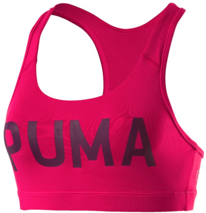 Топ-бра для фитнеса Puma PWRShape Forever - Logo, цвет: малиновый. 51599109. Размер XL (48/50) топ puma топ essential layer tank graphic