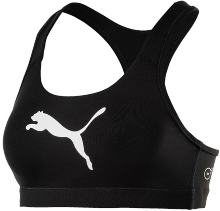 Топ-бра для фитнеса Puma PWRShape Forever - Logo, цвет: черный. 51599110. Размер L (46/48)51599110Топ-бра PWRShape Forever - Logo создан для ежедневных занятий спортом. Этот топ предоставит необходимую поддержку при любой нагрузке. Высокотехнологичный материал DryCell отводит излишнюю влагу от тела и сохраняет сухость и свежесть в течение всей тренировки. Стабилизирующие лямки поддерживают грудь. Плотная эластичная лента внизу изделия для дополнительной поддержки. Гладкая спинка обеспечивает свободу движений.