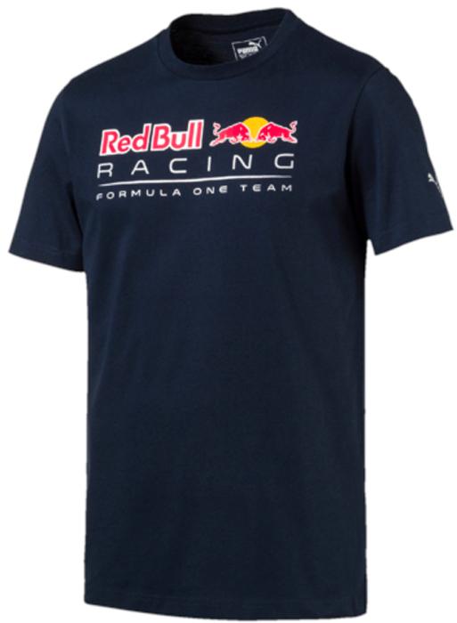 Футболка мужская Puma RBR Logo Tee, цвет: темно-синий. 57274701. Размер L (48/50)57274701Футболка мужская RBR Logo Tee выполнена из чистого хлопка и отличается хорошей воздухопроницаемостью. Изделие имеет классический крой, круглый вырез горловины и короткие рукава. Спереди модель украшена логотипом Red Bull Racing, на левом рукаве имеется логотип PUMA. Такая футболка незаменима для любителей автоспорта.