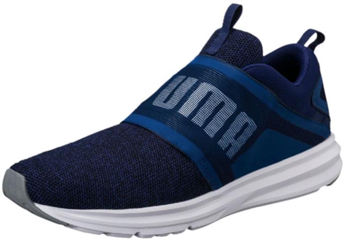 Кроссовки мужские для бега Puma Enzo Strap Knit, цвет: синий. 19002903. Размер 9,5 (43)19002903Новинка сезона – кроссовки Enzo Strap Knit – благодаря своему стильному и оригинальному фасону будут особенно привлекательны для молодежи. Смелое решение в отделке носка тканью рельефного плетения придают этой обуви свежесть и новизну. Широкая тесьма в качестве дополнительной застежки на подъеме помогает правильно зафиксировать ногу и способствует отличной посадке, как и традиционная шнуровка под тесьмой. Стелька из мягчайшего материала Softfoam и промежуточная подошва из амортизирующей пены IMEVA создают упругость и обеспечивают полный комфорт.