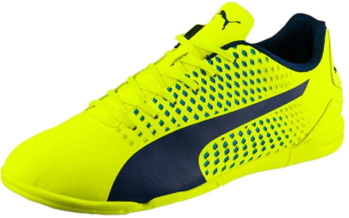 Кроссовки для футзала мужские Puma Adreno III IT, цвет: желтый. 10404709. Размер 10,5 (44) бутсы puma бутсы adreno iii fg