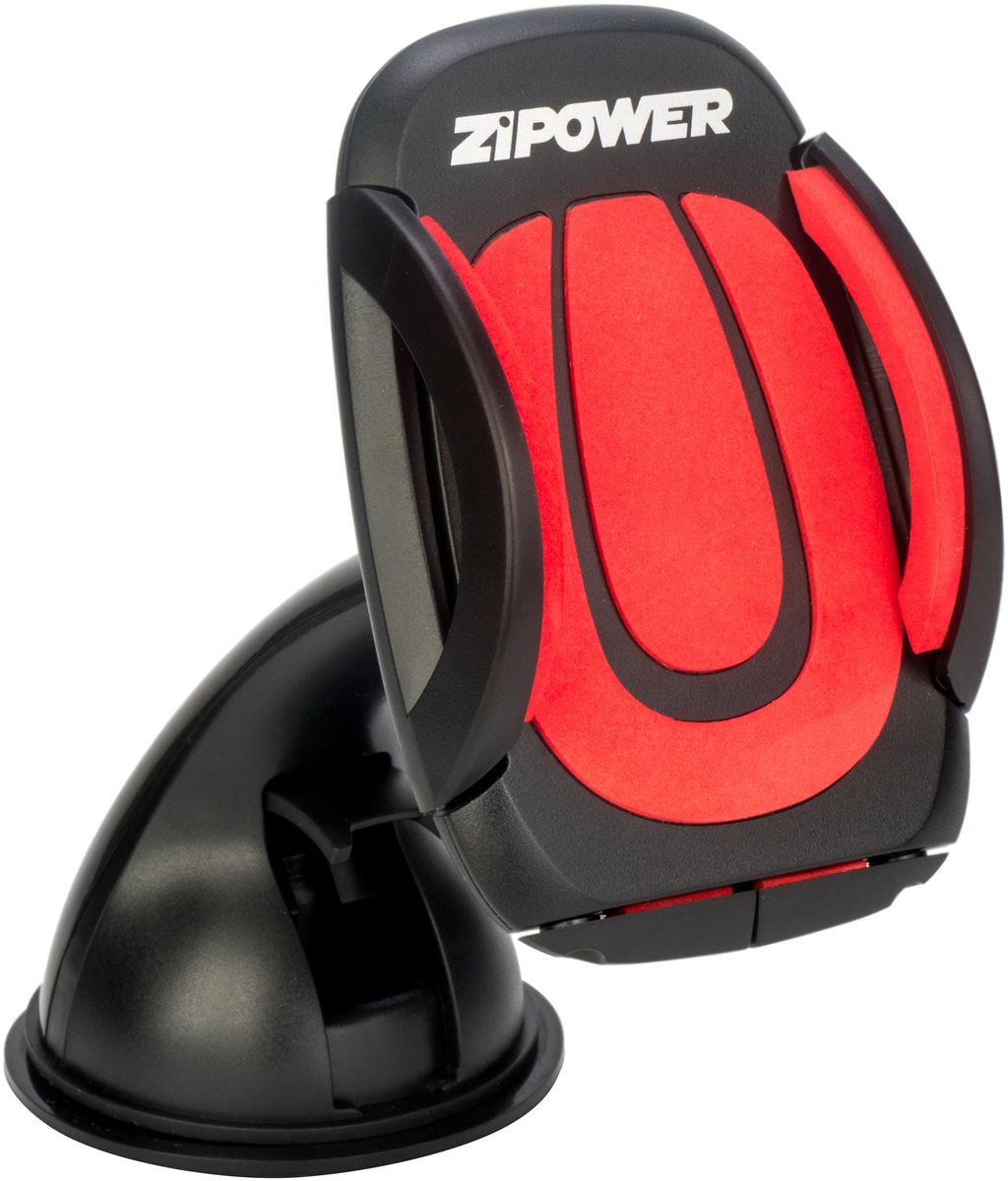 Держатель для телефона автомобильный Zipower, 47-100 мм. PM 6624PM 6624PM 6624 Авто держатель для мобильного телефона, ширина захвата 47-100 мм, угол поворота 360°С, присоска GELfix надежно фиксирует держатель на любой пластиковой или стеклянной поверхности, установка телефона одной рукой, ударопрочный пластик - держатель прослужит вам долго, мягкие накладки надежно фиксирует телефон. В современных условиях уже невозможно представить свою жизнь без огромного количества гаджетов. Мобильные телефоны, планшетные компьютеры, навигаторы прочно вошли в наш повседневный быт. Чтобы сделать их использование максимально комфортным, а также учитывая то, что значительную часть времени сегодня человек проводит в автомобиле, ZiPOWER представляет необходимые аксессуары – специальные автомобильные держатели для разнообразных устройств. Они позволят не только безопасно использовать то или иное устройство, но и дадут возможность просто и надежно закрепить его для подзарядки. ZIPOWER