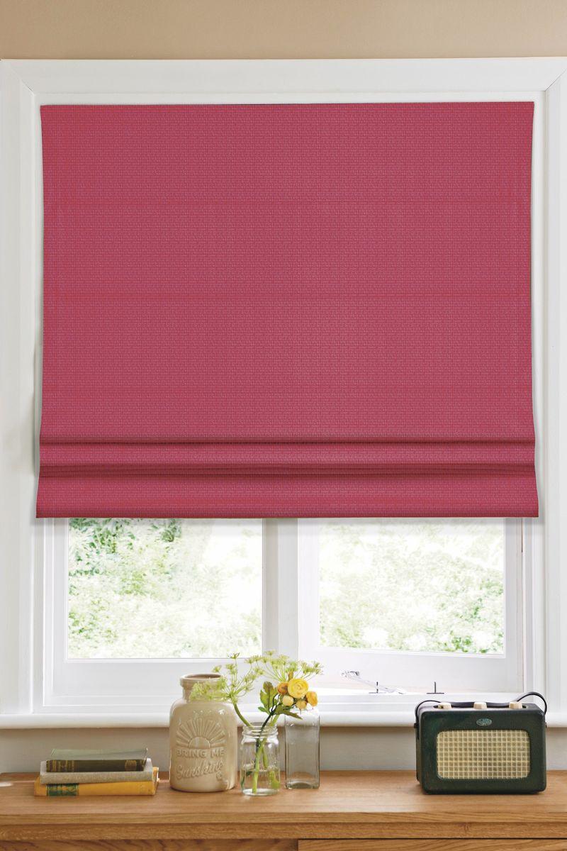 Штора римская Эскар, цвет: красный, ширина 60 см, высота 160 см1019060Римская штора Эскар, выполненная из высокопрочной ткани красного цвета, является отличным заменителем обычных портьер. Ее можно установить там, где невозможно повесить обычные шторы. Конструкция шторы позволяет ее разместить даже на самых маленьких оконных проемах, а специальная пропитка ткани сделает данный вид декора окна эстетичным долгое время. Римская штора представляет собой полотно, по ширине которого параллельно друг другу вшиты пластиковые или деревянные рейки. На концах этих планок закреплены кольца, сквозь которые пропущен шнур. С его помощью осуществляется управление шторой. При движении шнура вниз происходит складывание полотна и его поднятие в верхнюю часть оконного проема. При закрывании шнур поднимается, а складки, образованные тканью, расправляются и опускаются на окно.Такая штора станет прекрасным элементом декора окна и гармонично впишется в интерьер любого помещения.Комплект для монтажа прилагается.