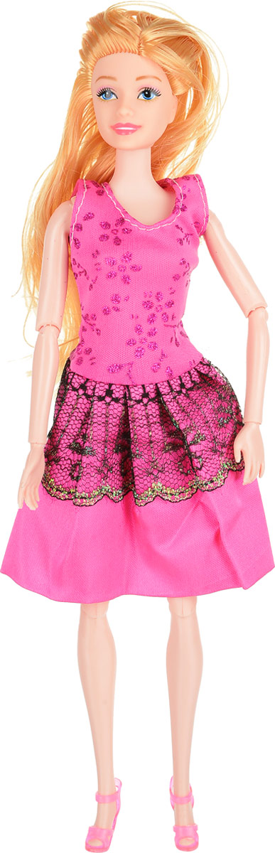 Veld-Co Кукла Модница цвет платья розовый veld co мини кукла mona с совой