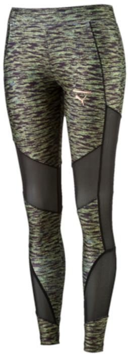 Леггинсы женские Puma AOP Legging Velvet Rope, цвет: черный, темно-зеленый. 57348901. Размер M (44/46)57348901Модель декорирована набивным логотипом Puma с прорезиненными элементами и сплошным набивным рисунком. Она изготовлена с использованием высокофункциональной технологии DryCell, которая отводит влагу, поддерживает тело сухим и гарантирует комфорт во время активных тренировок и занятий спортом. Плоские швы не натирают кожу. Вставка из сетчатого материала обеспечивает отличную вентиляцию. Сбоку имеется карман для мобильного телефона из двухслойного сетчатого материала. Фасон в обтяжку по фигуре.