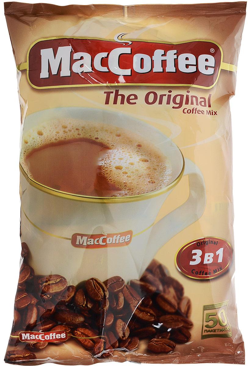 MacCoffee кофейный напиток 3 в 1, 50 шт кофейный напиток nescafe 3 в 1 мягкий сливочный вкус порционный
