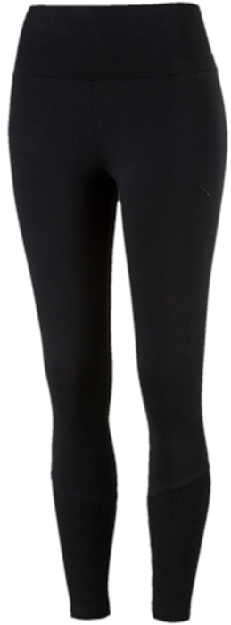 Леггинсы женские Puma Fusion 7 8 Legging, цвет: черный. 59237401. Размер L (46/48)59237401Модель декорирована вышитым логотипом Puma и изготовлена с использованием высокофункциональной технологии DryCell, которая отводит влагу, поддерживает тело сухим и гарантирует комфорт во время активных тренировок и занятий спортом. Завышенный пояс подчеркивает все достоинства женской фигуры и обеспечивает комфорт во время тренировки. В нижней части штанин имеются вставки из трикотажа в резинку. Фасон в обтяжку по фигуре очень элегантен.
