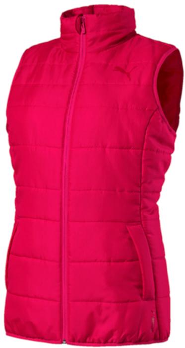 Жилет утепленный женский Puma Essentials Padded Vest W, цвет: малиновый. 59240528. Размер XL (48/50) puma puma essentials gym slim pants