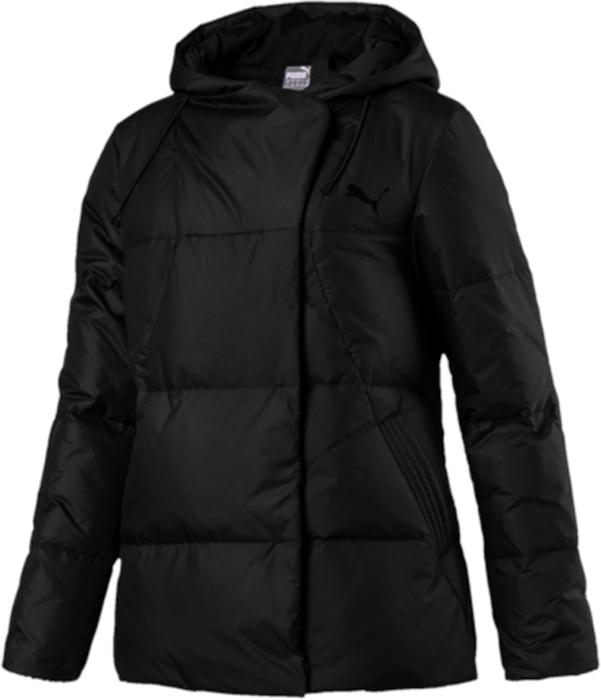 Пуховик женский Puma Style 480 HD Down Jacket, цвет: черный. 59242401. Размер M (44/46)