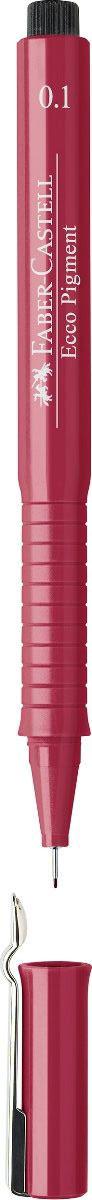 Faber-Castell Ручка капиллярная Ecco Pigment 0.1 цвет чернил красный 166121166121Капиллярная ручка Faber-Castell Ecco Pigment идеальна для письма, рисования, набросков. Пигментные водо- и светоустойчивые чернила позволяют рисовать с линейкой и по шаблону. Длинный кончик с металлическим корпусом, эргономичная область захвата, металлический клип.