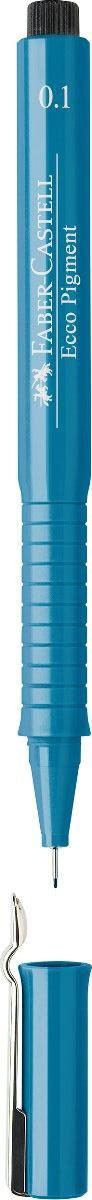 Faber-Castell Ручка капиллярная Ecco Pigment цвет чернил синий 166151166151Капиллярная ручка Faber-Castell Ecco Pigment идеальна для письма, рисования, набросков. Пигментные водо- и светоустойчивые чернила позволяют рисовать с линейкой и по шаблону. Длинный кончик с металлическим корпусом, эргономичная область захвата, металлический клип.