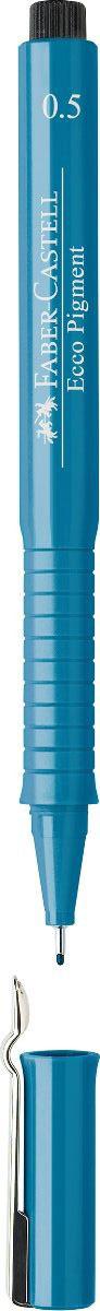 Faber-Castell Ручка капиллярная Ecco Pigment 0.5 цвет чернил синий 166551 сумка eldora ecco ecco mp002xw0001w