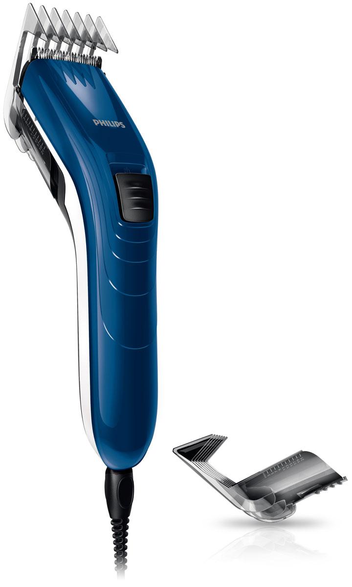 Philips QC5126/15 машинка для стрижки волос с 11 установками длиныQC5126/15С помощью машинки для стрижки волос Philips QC 5126/15 вы с легкостью сможете создать идеальную стрижку. Настройки длины на гребне позволяют подстричь волосы до нужной длины без необходимости смены гребней.Просто выберите и зафиксируйте нужную установку регулируемого гребня: от 3 мм до 21 мм (с шагом 2 мм). Либо используйте прибор без гребня для минимальной длины 0,5 мм.Благодаря легкости и компактности эта семейная машинка для стрижки волос очень удобна в использовании и подходит и для взрослых, и для детей. Эргономичная форма позволяет контролировать каждое движение прибора, обеспечивая полный комфорт.Закругленные лезвия и гребни плавно скользят по коже, не царапая ее, чтобы каждая стрижка была безопасной и приятной.Съемная филировочная насадка позволяет стричь волосы до разной длины. Используйте эту насадку для создания естественной текстуры и придания объема стрижке. Индивидуальный образ для каждого члена семьи.Самозатачивающиеся лезвия из нержавеющей стали дольше остаются острыми, не требуют специального ухода и обеспечивают великолепные результаты стрижки.