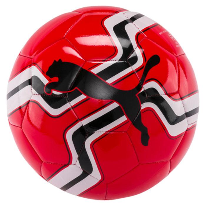 Мяч футбольный Puma Big Cat Ball, цвет: красный. 08275810. Размер 508275810Мяч для тренировок начинающих футболистов также подходит для игр с друзьями. Сочетание покрытия из термополиуретана, подложки из вспененного термополиэстера и полиуретана с резиновой камерой, а также надежная машинная прошивка панелей создают такие характеристики мяча, которые обеспечивают удобство приема, сохранение формы, чуткое реагирование на любые действия игрока, предсказуемость отскока, отличные аэродинамические качества.