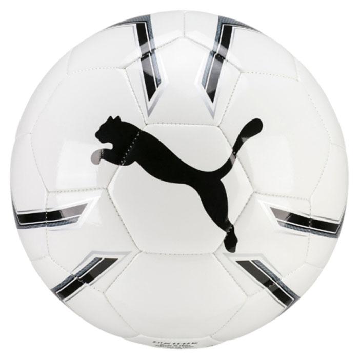 Мяч футбольный Puma Pro Training 2 Ms Ball, цвет: белый. 08281901. Размер 508281901Мяч для тренировок начинающих футболистов также подходит для игр с друзьями и отличается оптимальным сочетанием цена-качество. Сочетание покрытия из термополиуретана, подложки из вспененного материала и ткани и резиновой камеры, а также надежная машинная прошивка панелей создают такие характеристики мяча, которые обеспечивают удобство приема, сохранение формы, чуткое реагирование на любые действия игрока, предсказуемость отскока, отличные аэродинамические качества.