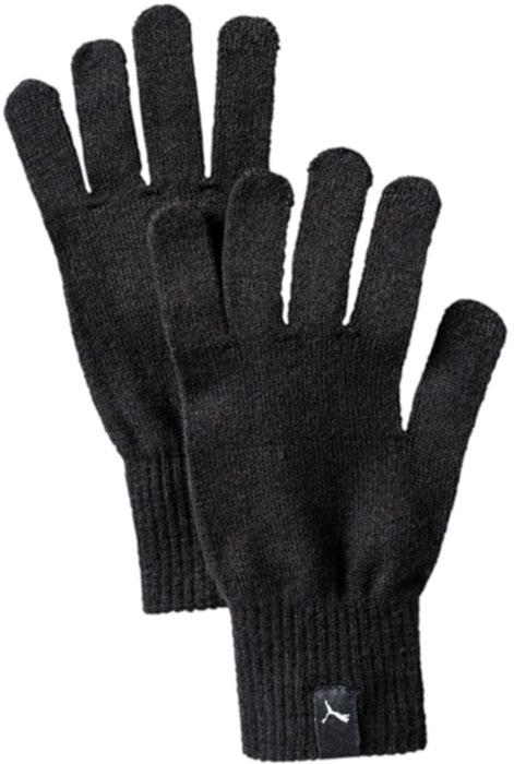 Перчатки Puma Knit Gloves, цвет: черный. 04131601. Размер L/XL (10)04131601Вязаные перчатки с особой конструкцией большого и указательного пальца, упрощающей работу с электронными устройствами, декорированы тканым ярлыком с логотипом Puma на манжетах.