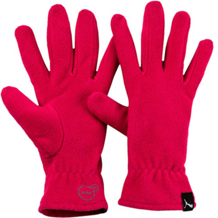 Перчатки Puma Fleece Gloves, цвет: малиновый. 04131703. Размер S (8)