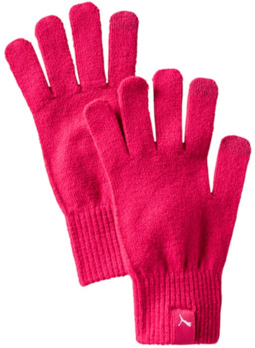 Перчатки Puma Knit Gloves, цвет: малиновый. 04131603. Размер M/L (9) lovely women s touch screen gloves winter knit gloves with rolled cuffs