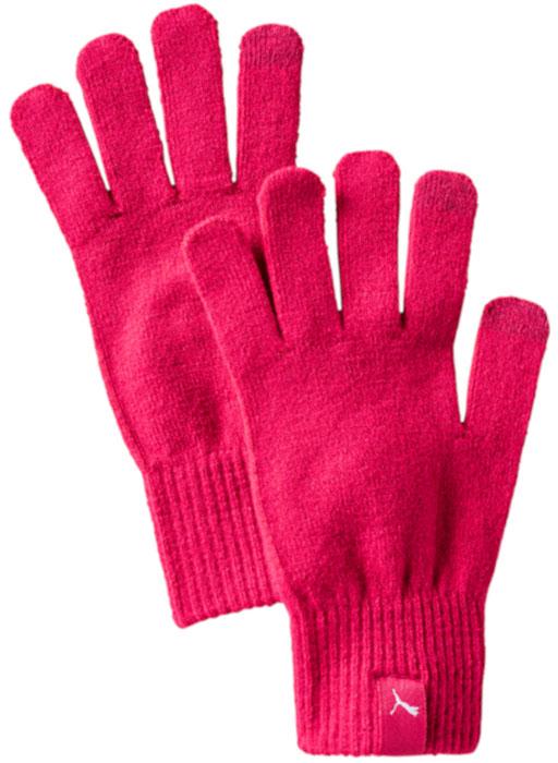 Перчатки Puma Knit Gloves, цвет: малиновый. 04131603. Размер M (9)04131603Вязаные перчатки с особой конструкцией большого и указательного пальца, упрощающей работу с электронными устройствами, декорированы тканым ярлыком с логотипом Puma на манжетах.