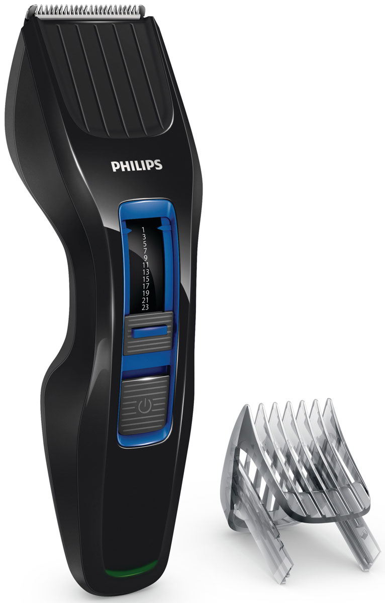 Philips HC3418/15 беспроводная машинка для стрижки волос с 13 установками длиныHC3418/15Машинка для стрижки волосPhilips HC3418/15 создана для отличных результатови долгой службы. Инновационный режущий блок, лезвия из нержавеющей стали ирегулируемый гребень — все, что нужно для быстрой и ровной стрижки снова и снова.Простое решение для стрижки волос любого типа: усовершенствованная технология DualCut — это режущий блок с двойной заточкой и низким коэффициентом трения. Инновационный режущий блок обеспечивает в два раза более быструю стрижку по сравнению с обычными машинками для стрижки Philips, что гарантирует превосходный результат.Выберите и зафиксируйте одну из 12 фиксируемых установок длины регулируемого гребня: от 1 мм до 23 мм с шагом 2 мм. Либо используйте прибор без гребня для минимальной длины 0,5 мм.