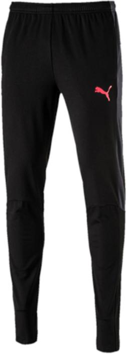 Брюки спортивные мужские Puma evoTRG Winter Pant, цвет: черный. 65542006. Размер XXL (52/54)65542006Модель изготовлена с использованием высокофункциональной технологии WarmCell, которая благодаря дышащим свойствам материала удерживает тепло и сохраняет оптимальную температуру вашего тела даже в холодную погоду. Модель декорирована логотипом Puma, нанесенным на левую штанину методом термопечати. Фирменные лампасы декорированы символикой Puma. Эргономичный покрой дополняется поясом из эластичного материала с затягивающимися шнурами. Также имеются два боковые карманы. Фасон в обтяжку по фигуре с зауженными штанинами очень элегантен.