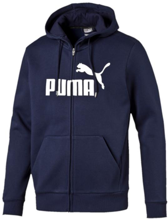 Толстовка мужская Puma ESS No.1 FZ Hoody, FL, цвет: темно-синий. 83825906. Размер XXL (52/54)83825906Модель декорирована логотипом Puma. Ворот отделан сзади тесьмой с фирменной символикой. Капюшон изменяемого объема посажен на мягкую трикотажную подкладку. Манжеты и подол отделаны трикотажем в резинку. Спереди имеется застежка-молния со стопором.