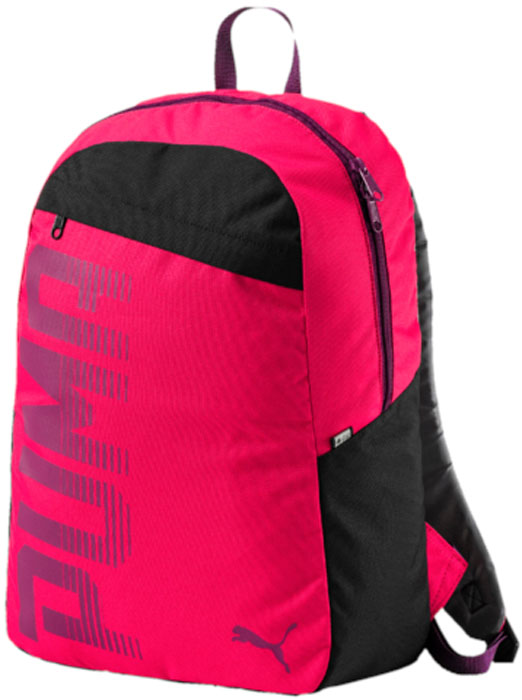Рюкзак Puma Pioneer Backpack I, цвет: малиновый, черный, 24 л. 07471404