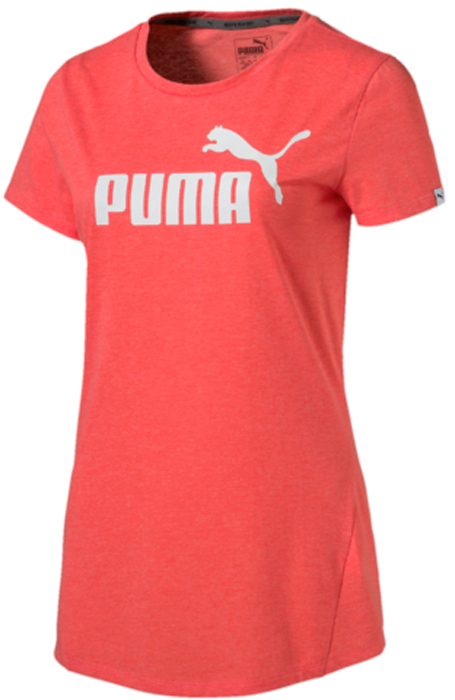 Футболка женская Puma ESS No.1 Tee Heather W, цвет: коралловый. 83839926. Размер M (44/46) футболка женская puma urban sports trend tee цвет коралловый 59398226 размер m 44 46