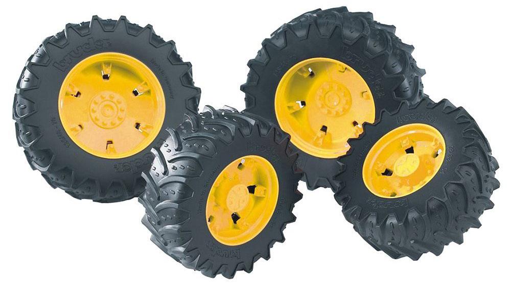 Bruder Шины для системы сдвоенных колес цвет черный желтый 4 шт bruder машины купить