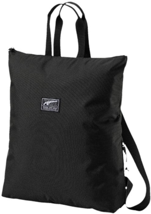 Сумка Puma Academy Backpack II, цвет: черный. 0747260107472601Рюкзак Puma Academy Backpack II имеет главное отделение на молнии, карман на молнии сбоку, функциональную подкладку из полиэстера с изнанкой из полиуретана, ручку для переноски из лямочной ленты, наплечные лямки из плотной тесьмы регулируемой длины. Символика PUMA представлена на металлическом язычке застежек-молний, на светоотражающем шнуре, продернутом в металлический язычок застежки-молнии бокового кармана, а также в виде тканого ярлыка с надписью PUMA спереди.