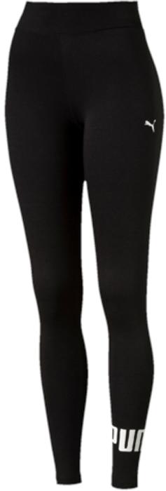Леггинсы женские Puma ESS No.1 Leggings, цвет: черный, белый. 83842201. Размер XXL (50/52)83842201Леггинсы ESS No.1 Leggings W выполнены из хлопка с добавлением эластана. Благодаря приятной на ощупь ткани, тренироваться в них будет очень комфортно. Модель имеет фасон в обтяжку по фигуре. Пояс выполнен из основного материала изделия. Леггинсы декорированы прорезиненным логотипом PUMA, а также вышитой фирменной символикой PUMA.