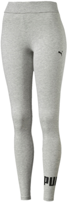 Леггинсы женские Puma ESS No.1 Leggings W, цвет: светло-серый, черный. 83842204. Размер XXS (38/40)