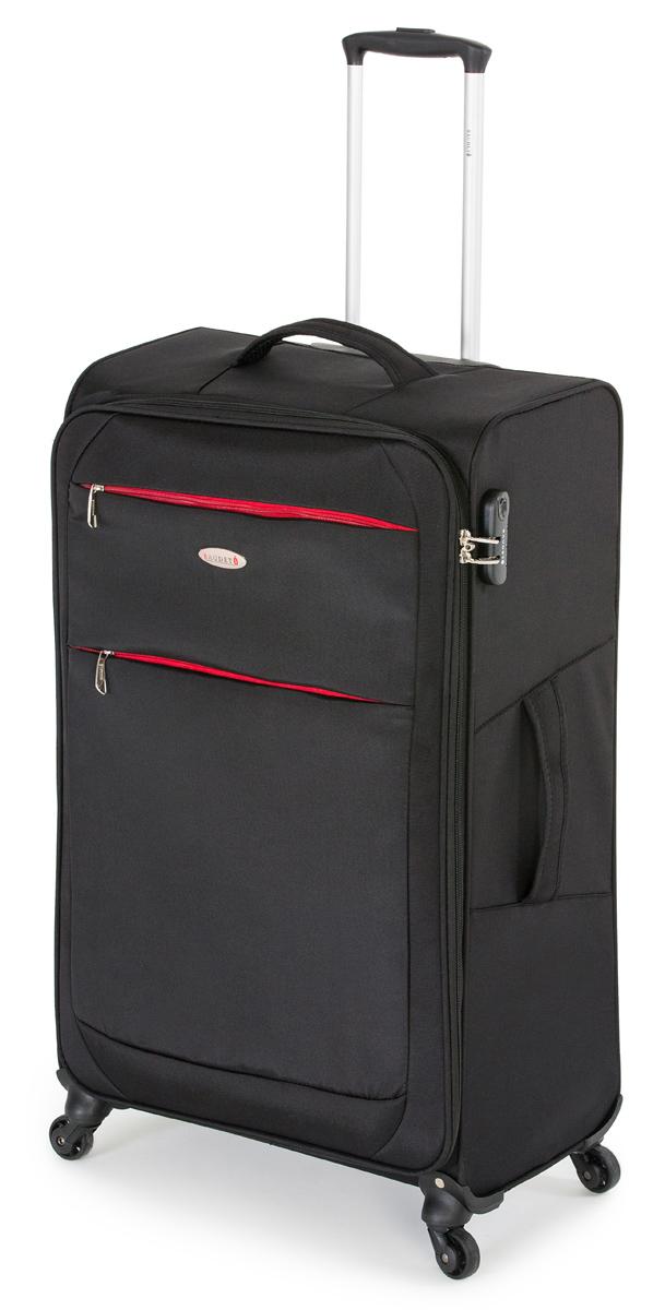 Чемодан Baudet, на колесах, цвет: черный, 71 х 47 х 26 см, 87 л чемодан baudet на колесах цвет черный красный 47 х 29 х 65 см 88 л