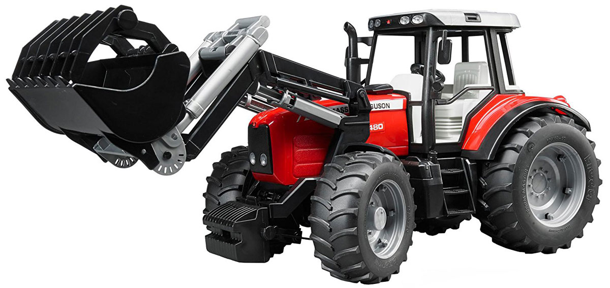 Bruder Трактор Massey Ferguson 7480 с фронтальным погрузчиком free ship gt2556s 711736 5026s 711736 2674a226 turbo for perkin s massey ferguson 5455 tractor loader backhoe 420d it vista 4 4l