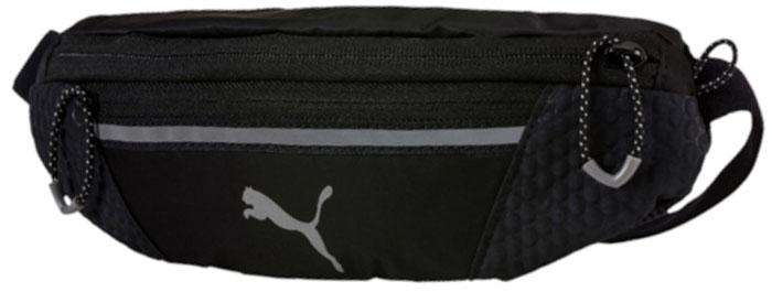 Сумка поясная для бега Puma Pr Classic Waist Bag, цвет: черный, 27 х 10 х 4 см. 07443701